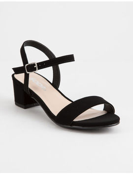 Soda Ankle Strap Girls Heeled Sandals by Soda
