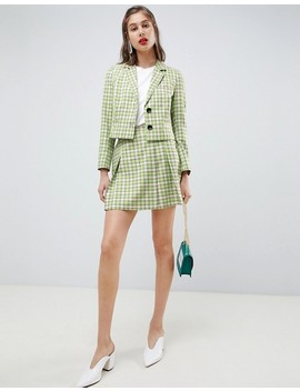 Asos Design Tailored Yellow And Green Check Suit by Asos Design