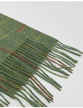 Barbour New Market Plaid Scarf In Green by Barbour