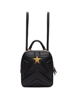 Black Small Star Backpack by Stella Mccartney