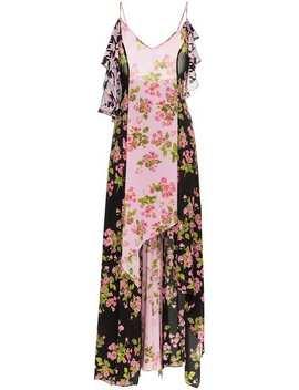 Rose Print Silk Maxi Dress by Natasha Zinko