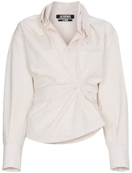 Ruched Front Shirt by Jacquemus
