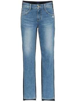 Mid Rise Corduroy Straight Jeans by Sjyp