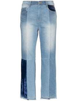 Velvet Patch Tomboy Jeans by Sjyp
