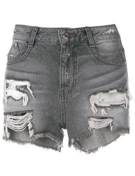 Cut Off Denim Shorts by Sjyp