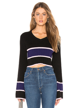 Team Cropped Sweater by Lovers + Friends