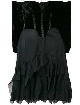 Off Shoulder Flared Dress by Romeo Gigli Vintage