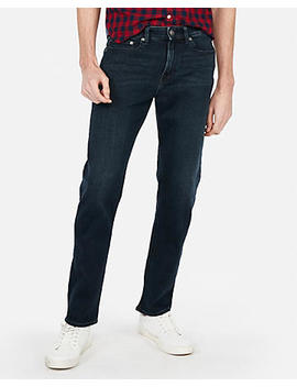Classic Slim Dark Wash 4 Way Stretch Jeans by Express