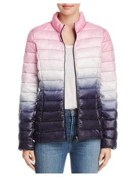 Packable Ombré Puffer Coat   100 Percents Exclusive by Aqua