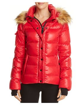 Faux Fur Trim Puffer Jacket   100 Percents Exclusive by Aqua