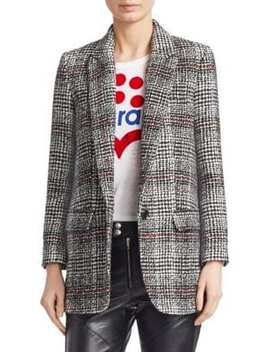 Ice Plaid Wool Blend Blazer by Isabel Marant Etoile