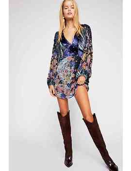 Last Letter Burnout Velvet Mini Dress by Free People