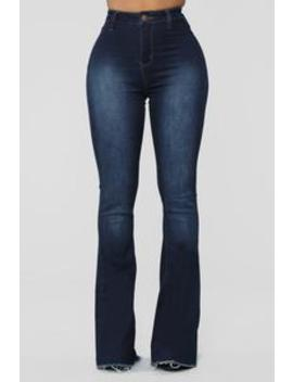 Valentina High Rise Flare Jeans   Dark Denim by Fashion Nova