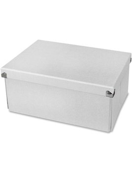 "Samsill Pop N' Store Medium Document Box White   12.75""X6""X9.5"", White, 1 Each (Quantity) by Samsill"