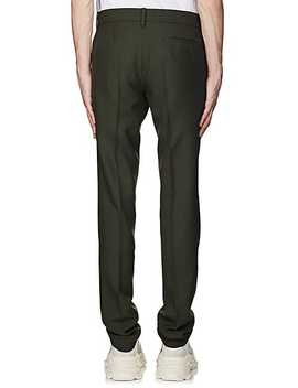 Virgin Wool Blend Twill Slim Trousers by Balenciaga