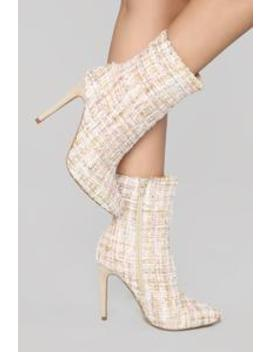 This Is The One Bootie   Cream by Fashion Nova