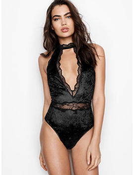 Crushed Velvet Plunge Teddy by Victoria's Secret