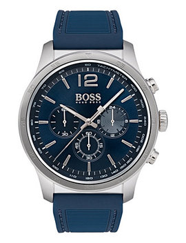 Hugo Boss Men's Chronograph Professional Blue Rubber Strap Watch 42mm by Boss