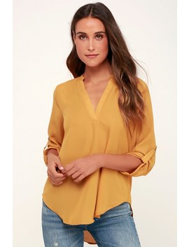 V Sionary Mustard Yellow Top by Lush