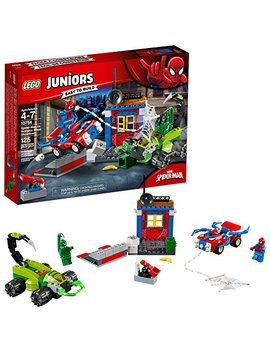 Lego Juniors/4+ Marvel Super Heroes Spider Man Vs. Scorpion Street Showdown 10754 Building Kit (125 Piece) by Lego