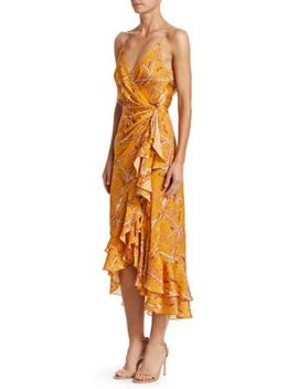 Milagro De Miel Wrap Effect Dress by Johanna Ortiz