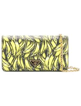 Logo Banana Print Bag by Prada