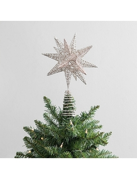 Champagne Glitter Star Tree Topper by Kirkland's