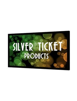 "Str 169150 Silver Ticket 4 K Ultra Hd Ready Cinema Format (6 Piece Fixed Frame) Projector Screen (16:9, 150"", White Material) by Silver Ticket Products"