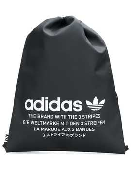 Logo Print Drawstring Backpack by Adidas