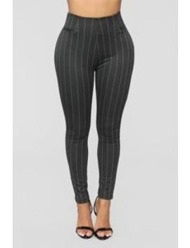 Stripe The Strip Ponte Pants   Black by Fashion Nova