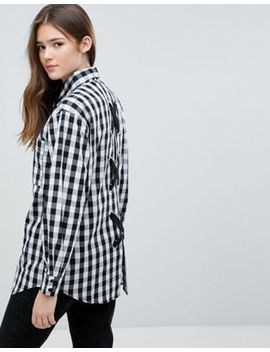Glamorous Gingham Shirt With Lace Up Back Detail by Glamorous