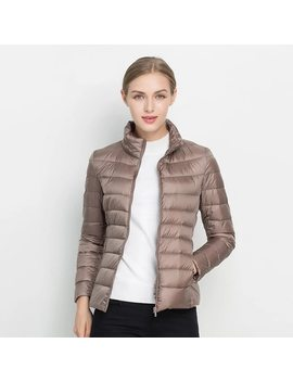 Women Winter Coat 2018 New Ultra Light White Duck Down Jacket Slim Women Winter Puffer Jacket Portable Windproof Down Coat by Lanyu
