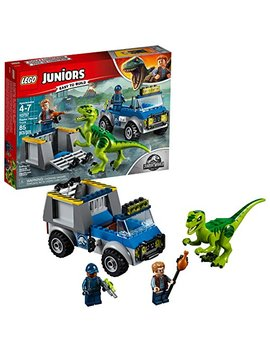 Lego Juniors/4+ Jurassic World Raptor Rescue Truck 10757 Building Kit (85 Piece) by Lego