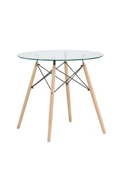 Green Forest Dining Table Round Clear Glass Table Modern Style Table Kitchen by Ebay Seller