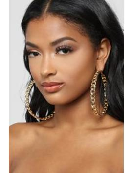 Let's Link Up Earrings   Gold by Fashion Nova