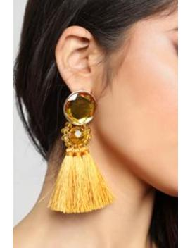 Blingy Earrings   Mustard by Fashion Nova