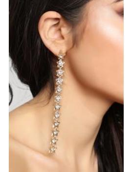 Dazzling Star Earrings   Gold by Fashion Nova