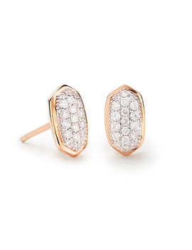Amelee Earrings In Pave Diamond And 14k Rose Gold by Kendra Scott
