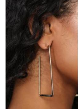 On The Square Earrings   Gold by Fashion Nova