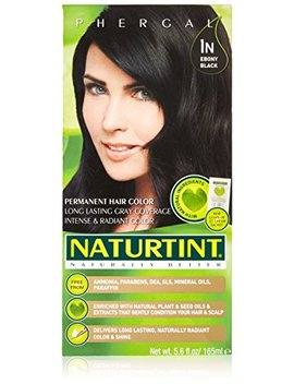 Naturtint   Permanent Hair Colorant   1 N Ebony Black, 5.6 Fl Oz (Packaging May Vary) by Naturtint