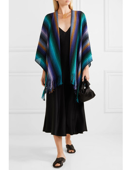 Fringed Crocheted Wool Wrap by Missoni