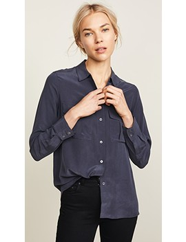 Rhett Silk Button Down Shirt by Rails