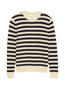 Heritage Italian Recycled Wool Blend Stripe Sweater by Banana Repbulic