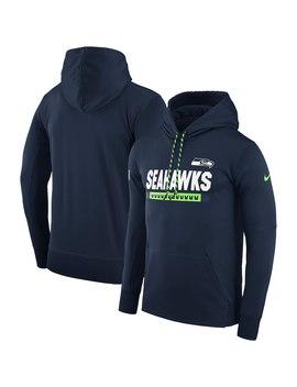 Men's Seattle Seahawks Nike Navy Sideline Therma Fit Performance Po Hoodie by Nfl