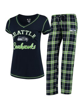 Women's Seattle Seahawks Concepts Sport College Navy Duo Pants & Top Set by Nfl