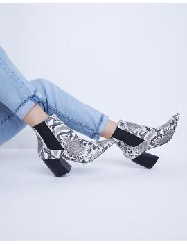 Western Snakeskin Booties by 2020 Ave