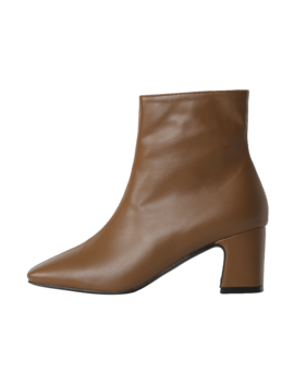 Square Toe Block Heeled Boots by Stylenanda