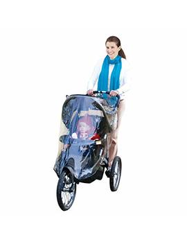 Jeep Jogging Stroller Weather Shield, Baby Rain Cover, Universal Size To Fit Most Jogging Strollers, Waterproof, Windproof, Ventilation,Protection, Pram,Vinyl, Clear, Plastic by Jeep