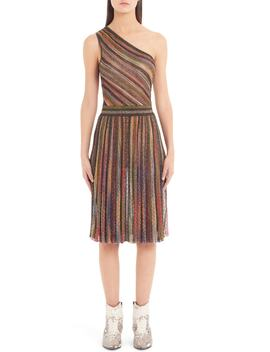 Metallic Stripe One Shoulder Dress by Missoni