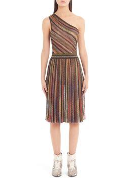 Metallic Stripe One Shoulder Dress by Missoni